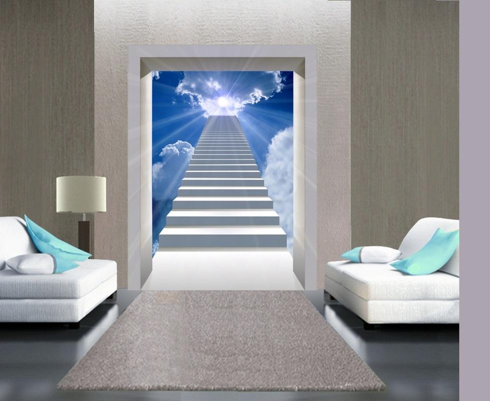 Poster con porte su paesaggi decorazioni per pareti for Pannelli adesivi per pareti